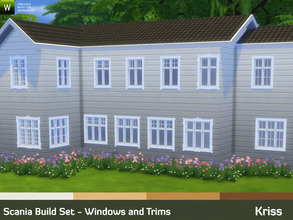 Sims 4 — Scania Build Set - Windows and Trims by Kriss — Scania Build Set returns! A large set bringing scandinavian
