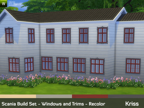 Sims 4 — Scania Build Set - Windows and Trims - Recolor by Kriss — Scania Build Set returns! A large set bringing