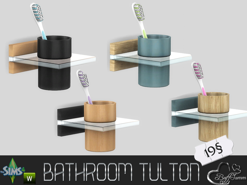 Buffsumm 39 s tulton bathroom toothbrush for Bathroom decor sims 3
