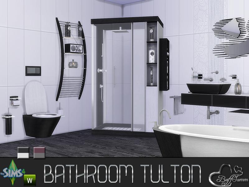 Buffsumm 39 s tulton bathroom recolor set 1 for Bathroom ideas sims 4