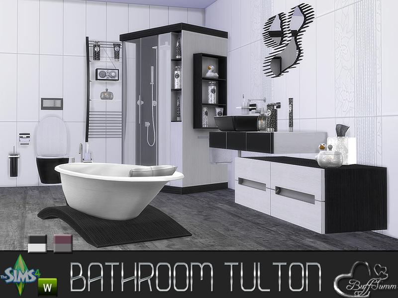 Buffsumm 39 s tulton bathroom recolor set 1 for Bathroom ideas sims 3