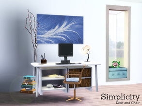 Sims 3 — [SIM]plicity by Angela — Simplicity, a small office set containing a desk and chair.