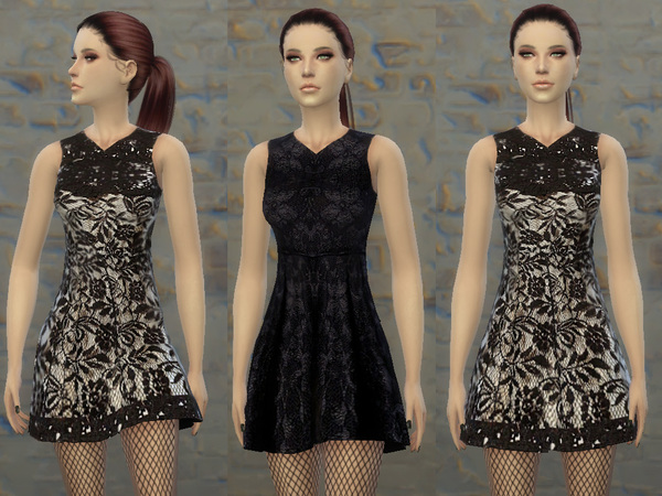 http://www.thesimsresource.com/downloads/details/category/sims4-clothing-female-teenadultelder-everyday/title/tatyananame--lace-black-dress/id/1286437/