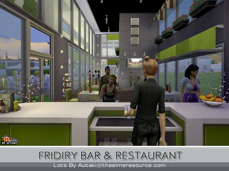 sims 4 how to put a bar in a lot