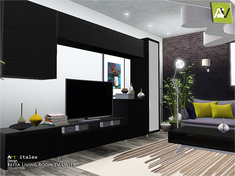Artvitalex 39 s besta living room tv units for Sims 3 living room ideas