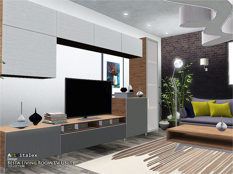 Artvitalex 39 s besta living room tv units for Sims 4 living room ideas