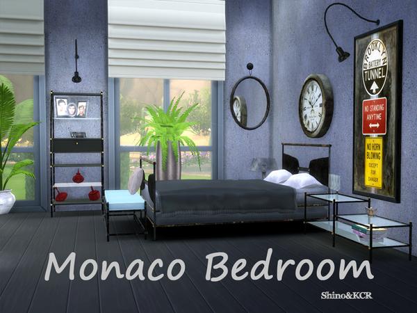 Shinokcr 39 s monaco bedroom for Bedroom designs sims 4