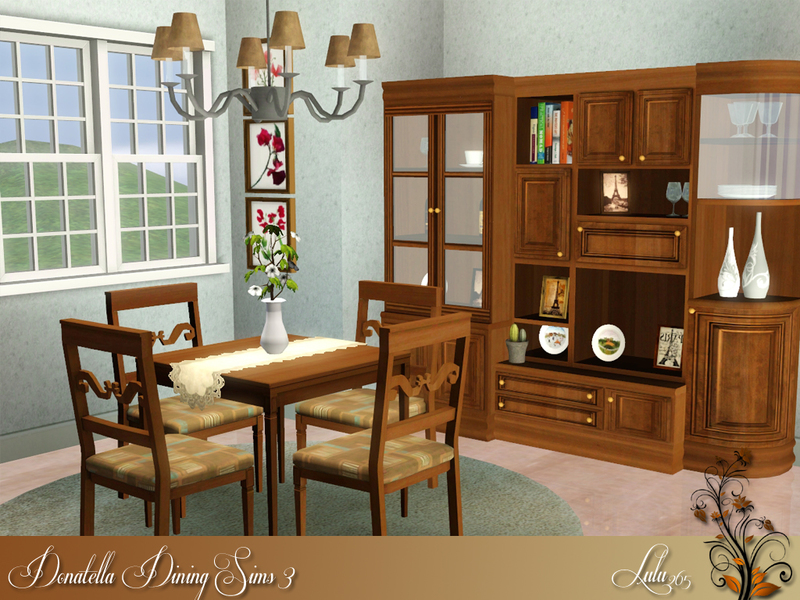Lulu265 39 s donatella dining for sims 3 for Sims 3 dining room ideas