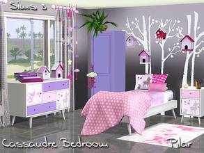 Sims 3 — Cassandre Bedroom by Pilar — A world of girls and stories