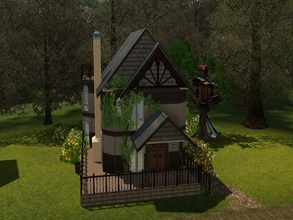 Sims 3 — House for Dragon Valley 1 by GoopyCarbon — This rustic home was created for Dragon Valley. It has 2 bedrooms, 2