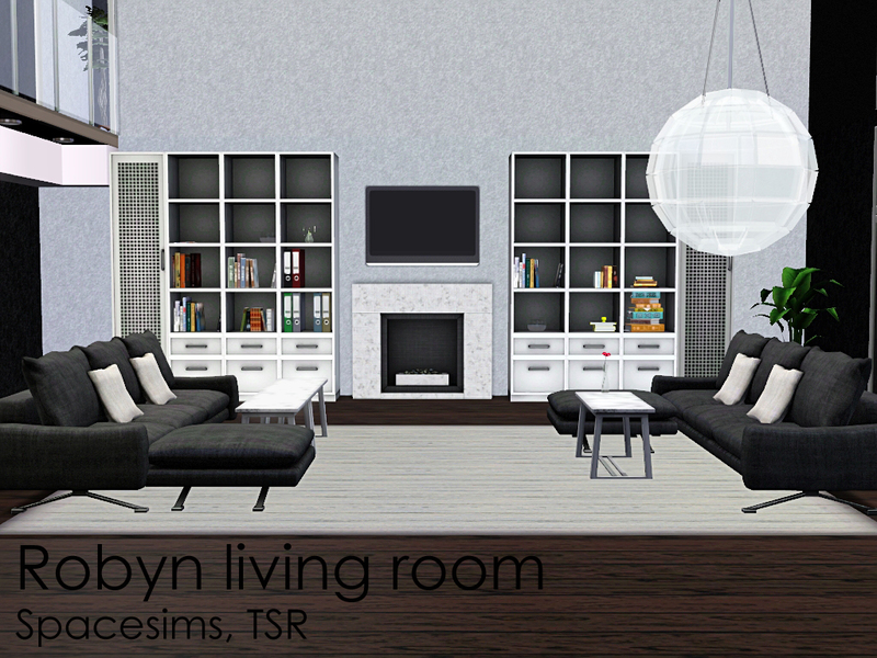 Spacesims 39 robyn living room for Modern living room sims 4