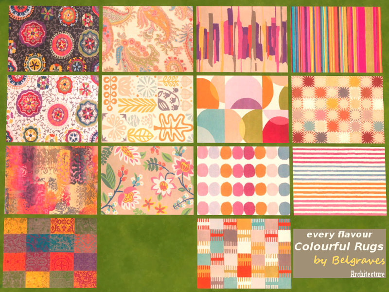 Leander Belgraves Colourful Rugs