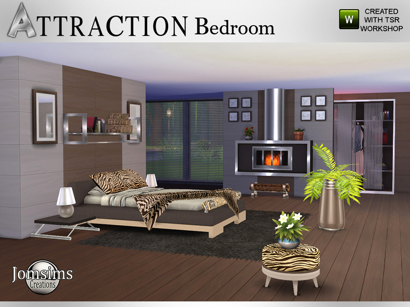 Jomsims 39 attraction bedroom for Bedroom designs sims 4