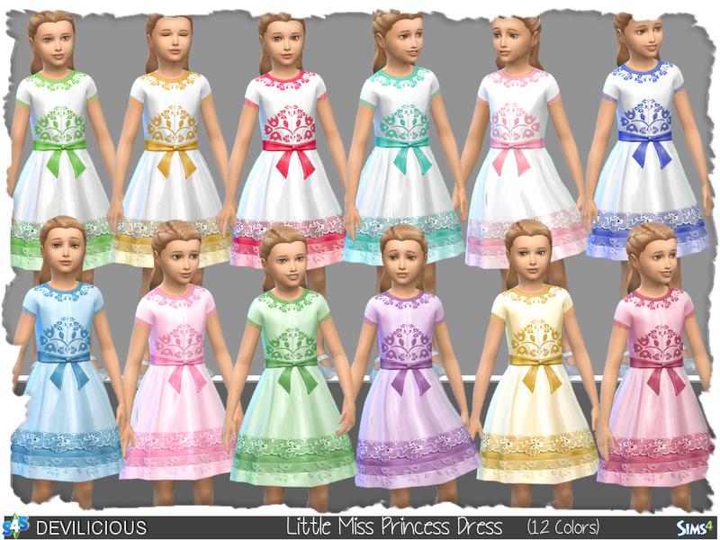 devilicious little miss princess dress 12 colors