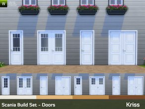 Sims 4 — Scania Build Set - Doors by Kriss — This is the second part of the Scania Build Set bringing scandinavian styled