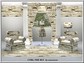 Sims 3 — Curl the Mo_marcorse by marcorse — Themed pattern: various styles of moustache in sepia tones
