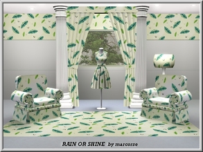 Sims 3 — Rain or Shine_marcorse by marcorse — Themed pattern: parasols or umbrellas - whatever best suits your purpose.
