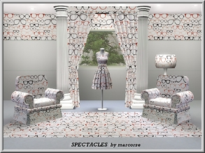 Sims 3 — Spectacles_marcorse by marcorse — Themed pattern: collection of spectacle frames in various shapes