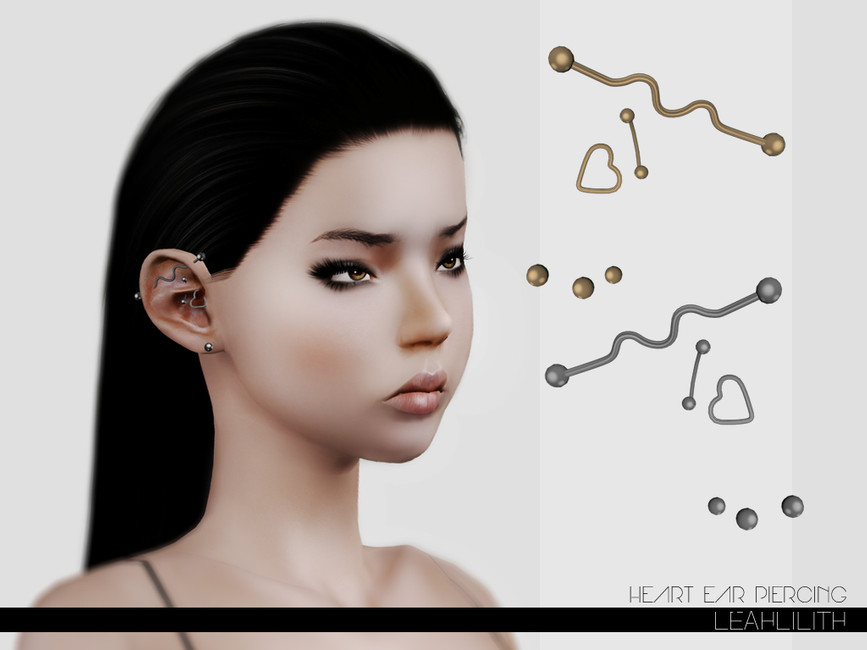 Leah Lillith S Leahlillith Heart Ear Piercing