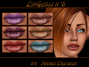 Sims 3 — LipGloss n 6 b niobe cremisi by niobe_cremisi — -3 Recolorable channels -Teen/elder -Male/female