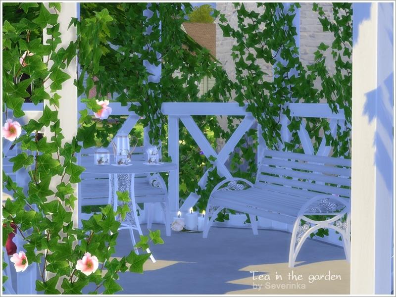 Severinka 39 s 39 tea in the garden 39 set for Indoor gardening sims 4