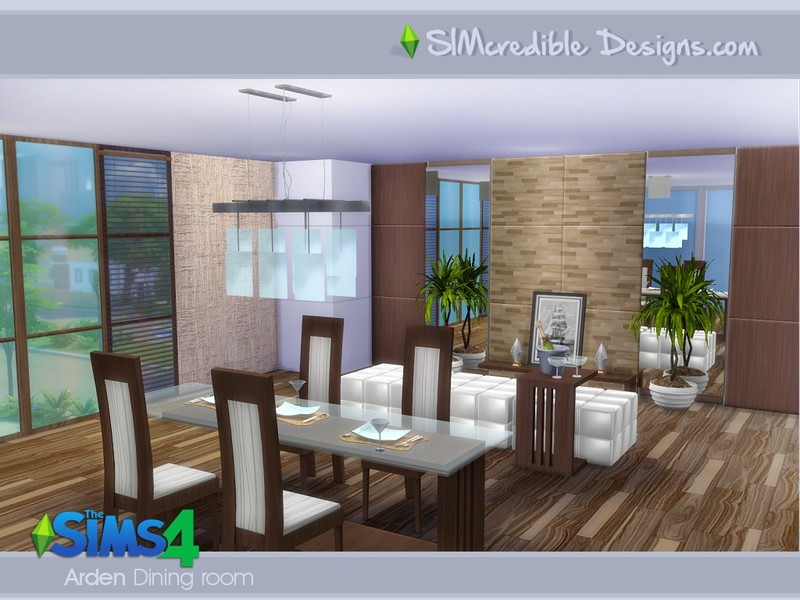 Simcredible 39 s arden dining room for Dining room ideas sims 4
