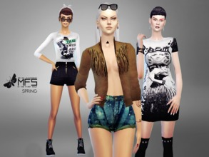 Sims 4 — MFS Spring Collection by MissFortune — A set of sporty clothing for your sim-spring! HQ Textures and different