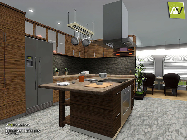 Artvitalex 39 s euroface kitchen for Kitchen set sims 4