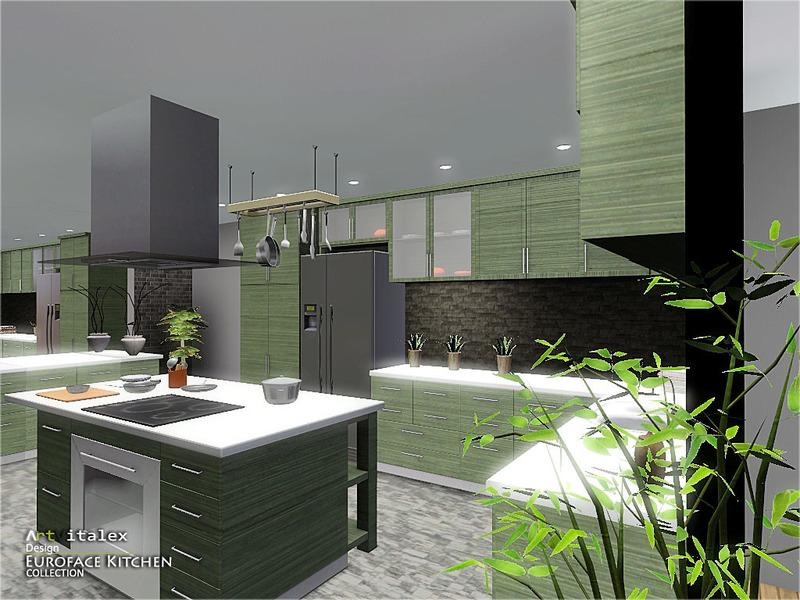 Artvitalex 39 s euroface kitchen for Sims 3 kitchen designs