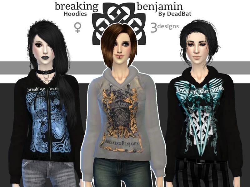 DeadBat's Breaking Benjamin Hoodies
