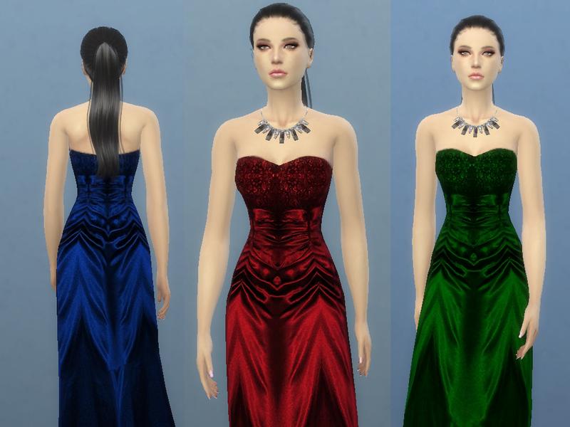 Концертное платье (5 цветов в 1) Concert Dress by TatyanaName Формат: Package Рецензия: Новый меш от TatyanaName