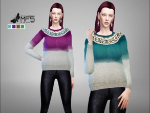 Sims 4 — MFS Kaya Jumper by MissFortune — A embellished jumper in different colors. Standalone, HQ Texture, 4 swatches.