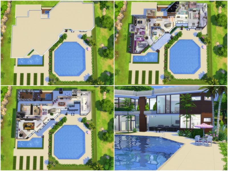 Millasrl 39 s luxury modern for Sims 4 modelli di casa moderna