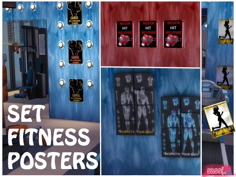 Gym weights poster u pixers we live to change