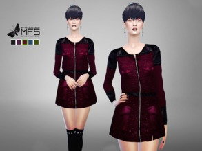 Sims 4 — MFS Eliza Jacket by MissFortune — A long jacket that comes as a Top. You can match it with leggins or pants. 5