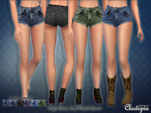 http://www.thesimsresource.com/downloads/details/category/sims4-clothing-female-teenadultelder-everyday/title/set34-high-rise-acid-wash-shorts/id/1289979/