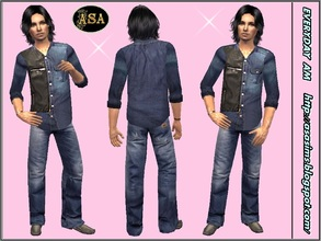 Sims 2 — ASA_Dress_339_AM by Gribko_Sveta — Jeans trousers and shirt for men TS2