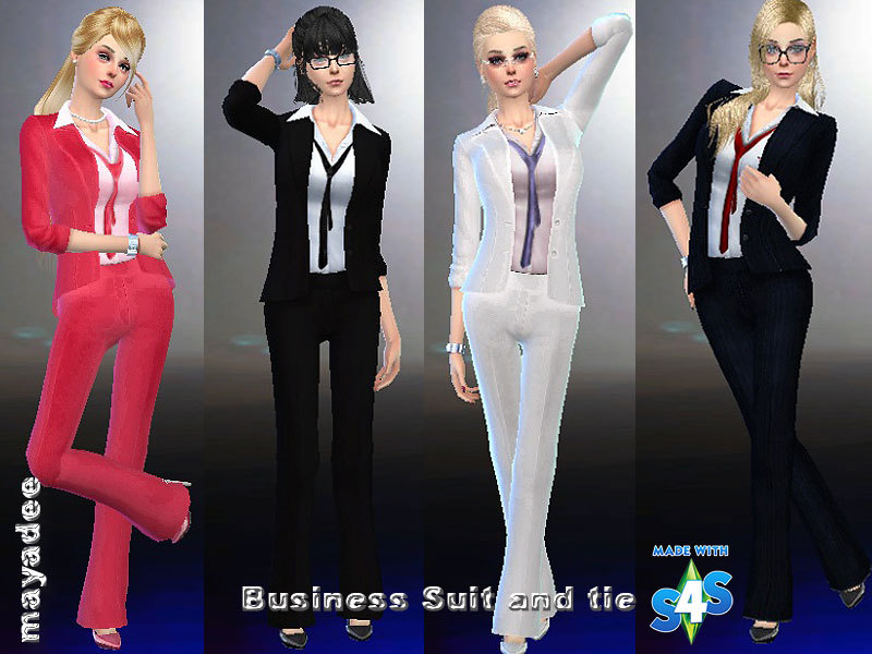 mayadee's Business Suit and Tie The Sims Resource