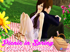 Sims 3 — Picnic in Spring Couple Pose Pack by sweetwilight — Another couple pose I made just cause its Spring time! 2