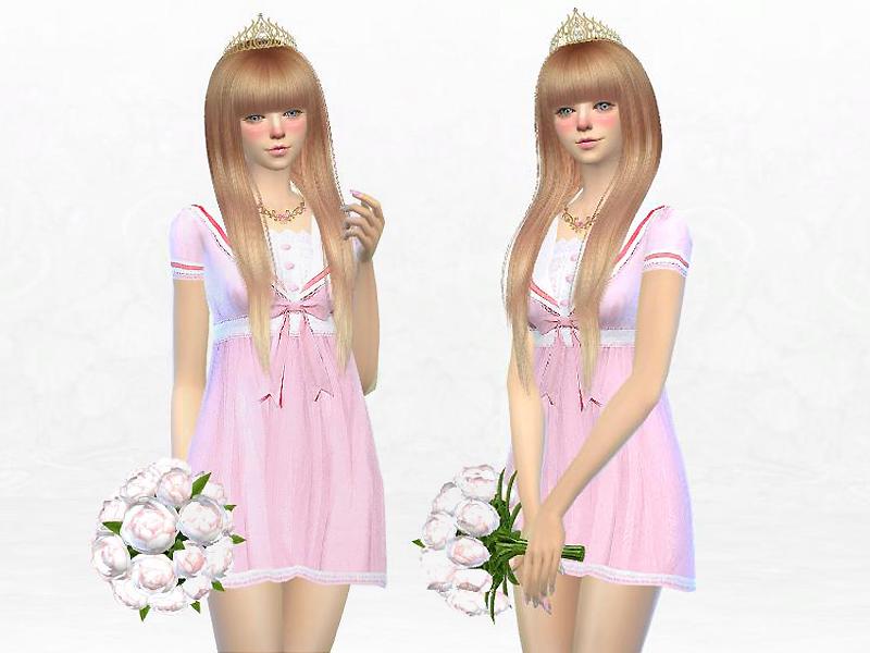 Sakuraphan S Lolita Pink Bowknot Princess Dress