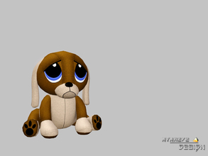 Sims 3 — Peanut Puppy by NynaeveDesign — Peanut the Puppy Plush is soft and cuddly and makes a great companion! Located