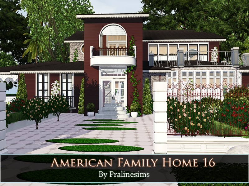 Pralinesims 39 american family home 16 for American family homes