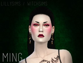 Sims 4 — Ming by Witch-Sims2 — This is inspired by 'Ming Xiao' a character in 'Vampire: The Masquerade - Bloodlines'