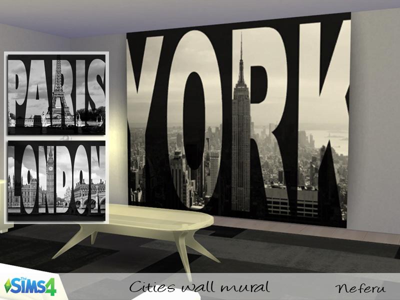 Neferus Cities wall mural