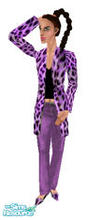 Sims 1 — Fujiko Leo Purple by prettyhunny — Fujiko loves animal prints, emphasizes the leopard in her.