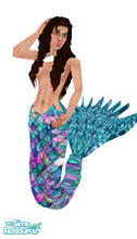 "Sims 1 — Fujiko Mermaid by prettyhunny — Fujiko in another one of her "" fashionable "" moments ----- garbed in"
