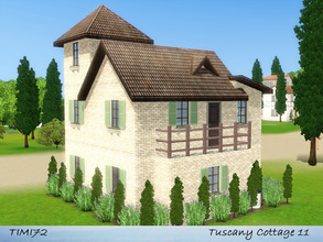 Sims 3 — Tuscany Cottage 11 by timi722 — Small starter cottage in tuscan style. Best for a single sim, or a starter