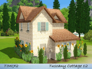 Sims 3 — Tuscany Cottage 12 by timi722 — Small starter cottage in tuscan style. Best for a single sim, or a starter
