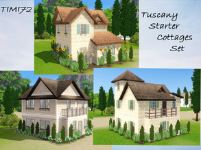 Sims 3 — Tuscany Starter Cottages Set by timi722 — Small starter cottages in tuscan style. Created for a mediterranean