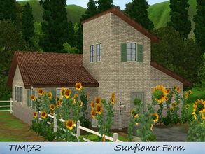 Sims 3 — Sunflower Farm by timi722 — Small starter cottage in tuscan style. Best for a single sim, or a starter couple.
